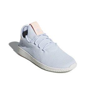 Pharrell Williams HU baby blue tennis sneakers
